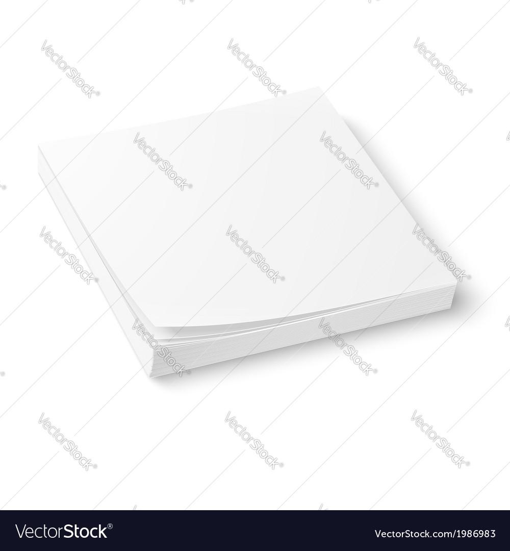 White paper block template vector