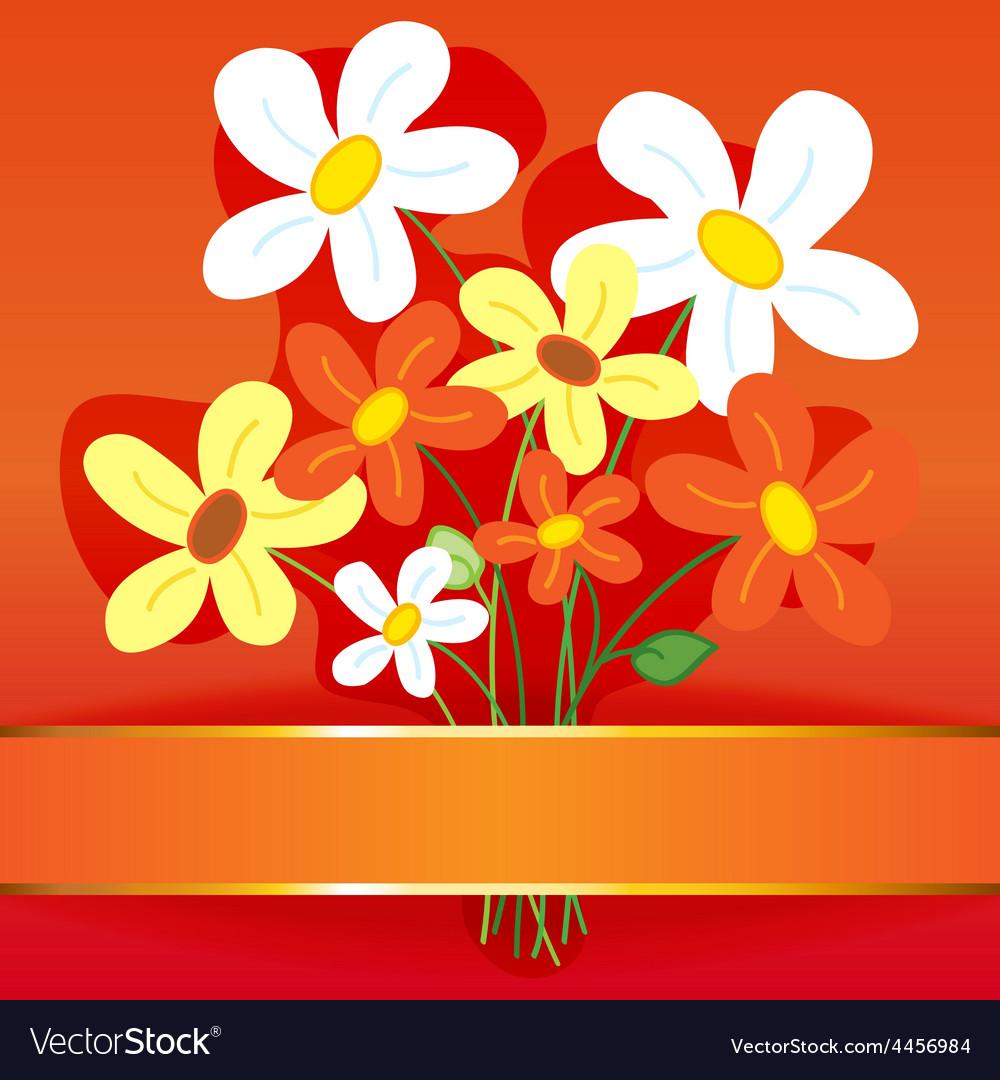 Bouquet flower card vector