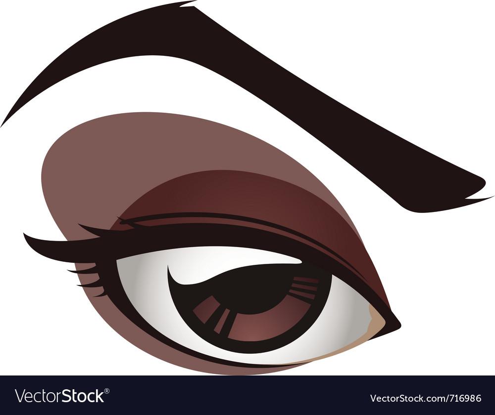 Sexy female eye vector