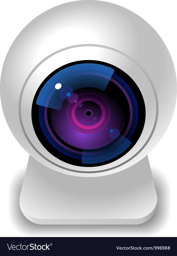 Icon for webcam vector