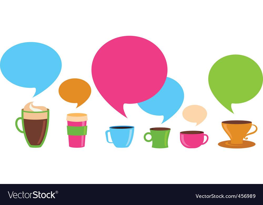 Coffee dialog vector
