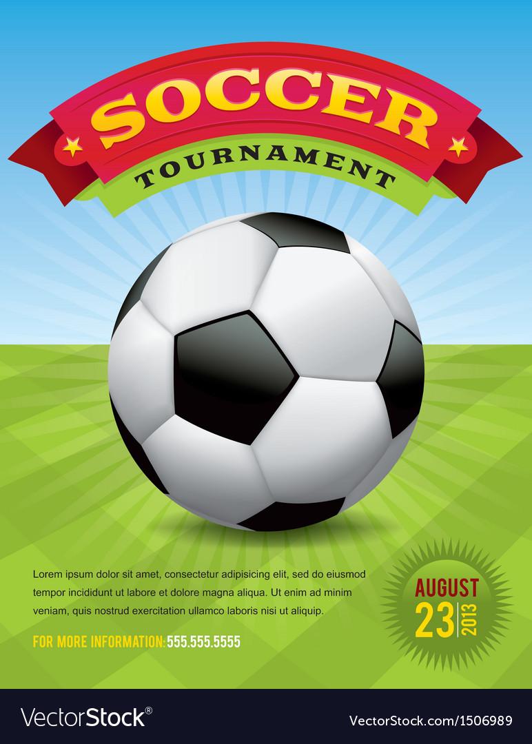 Soccer tournament design vector