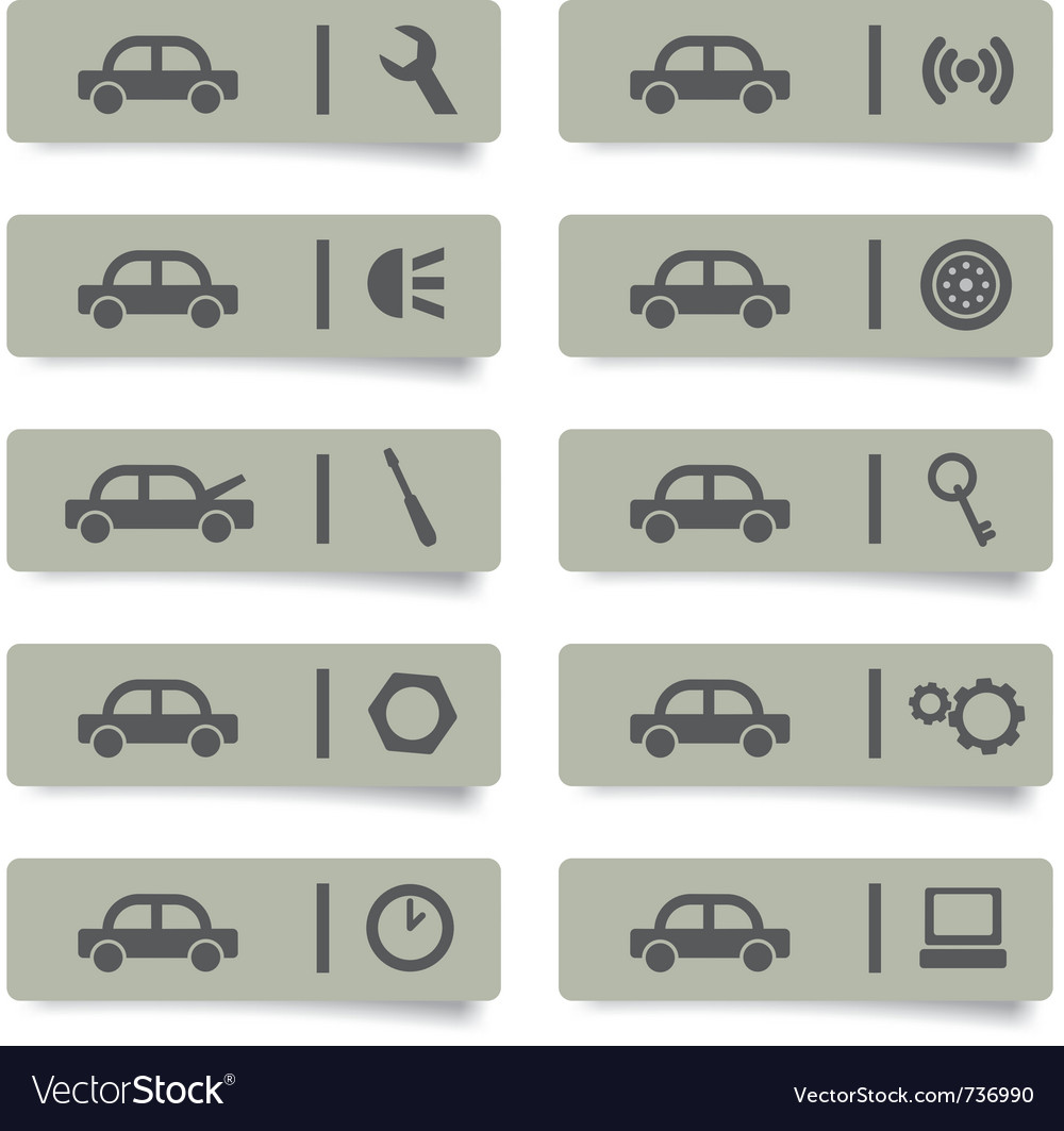 Auto service stickers vector