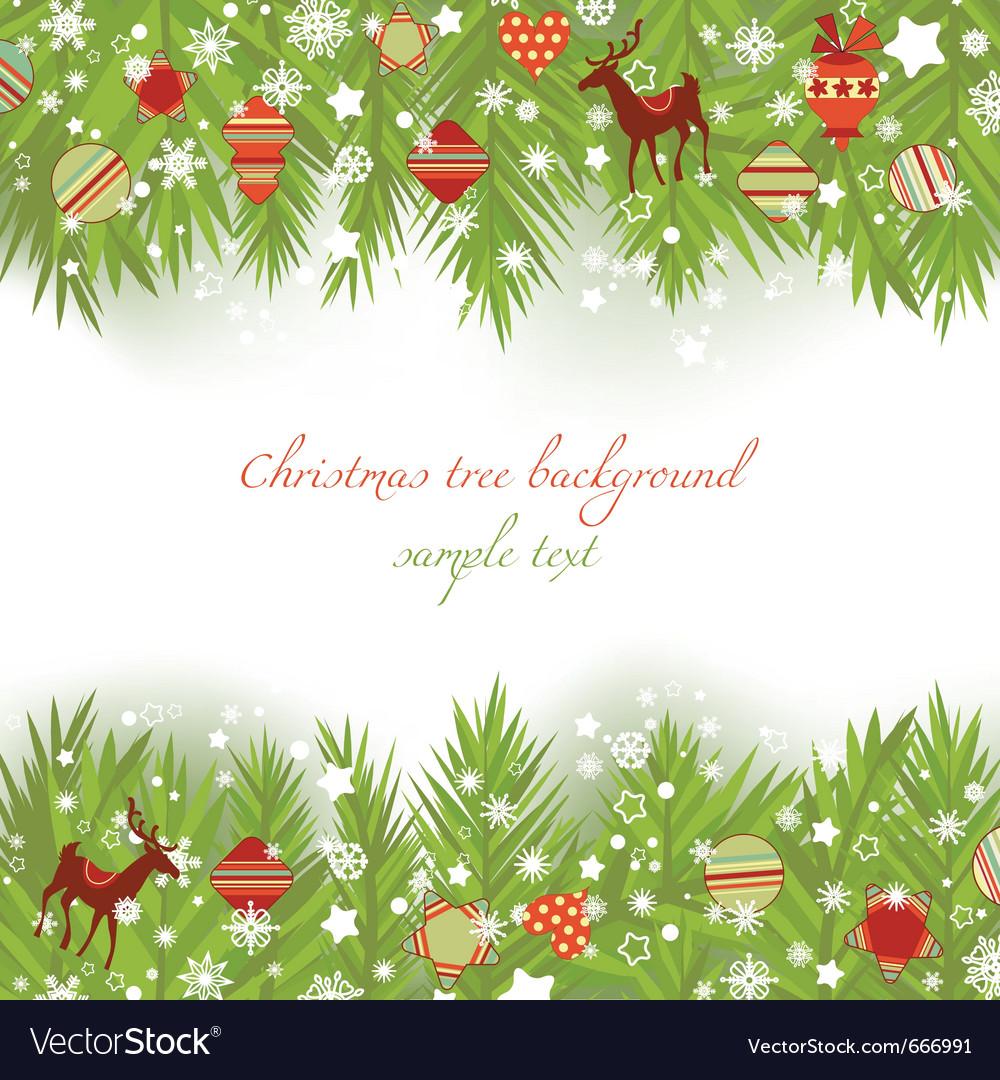 Christmas tree borders vector