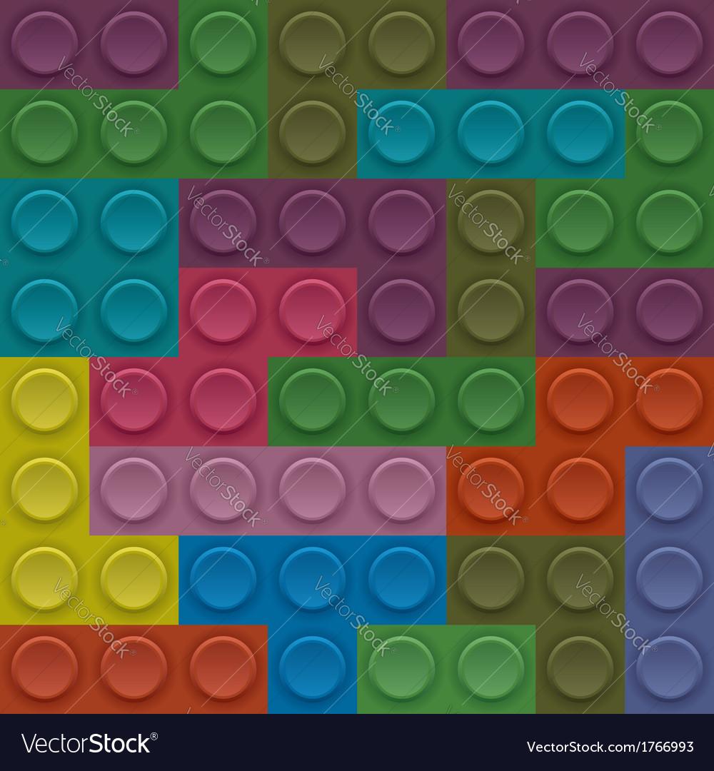 Colorful lego block vector