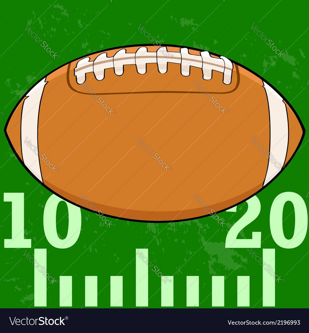 Football field icon vector