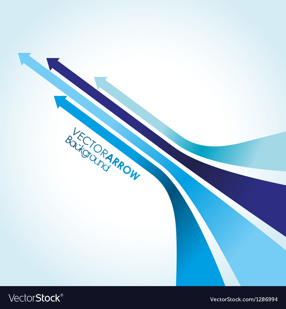 Blue arrow strips vector