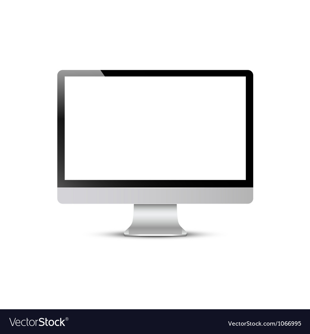 Computer screen vector