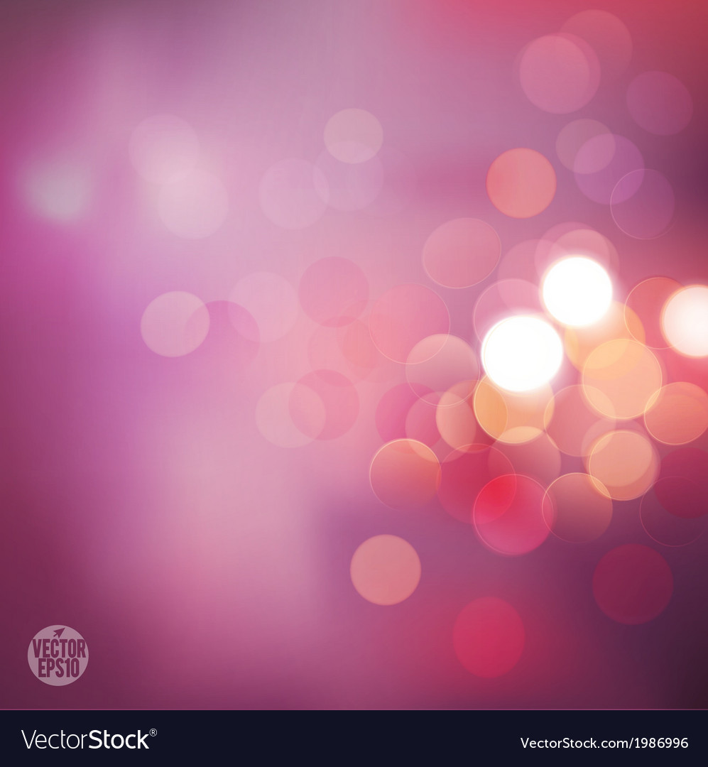 Bokeh background with pink classic tone background vector