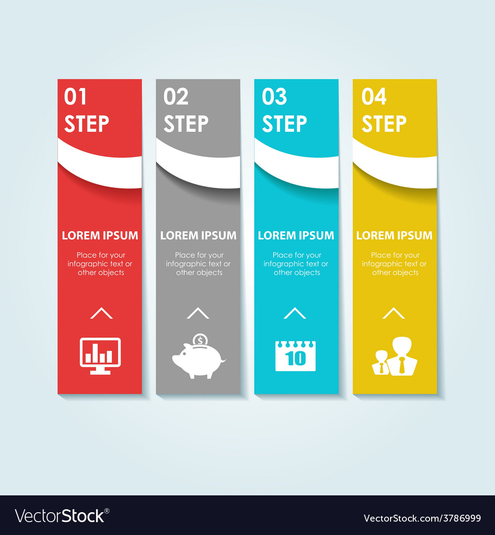 Circle infographic template for diagram vector