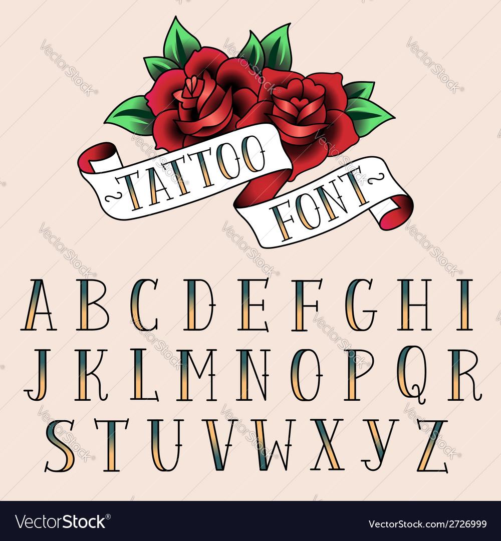 Tattoo alphabet vector