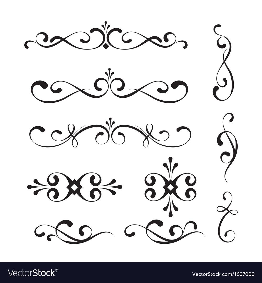 Decorative elements and ornaments vector