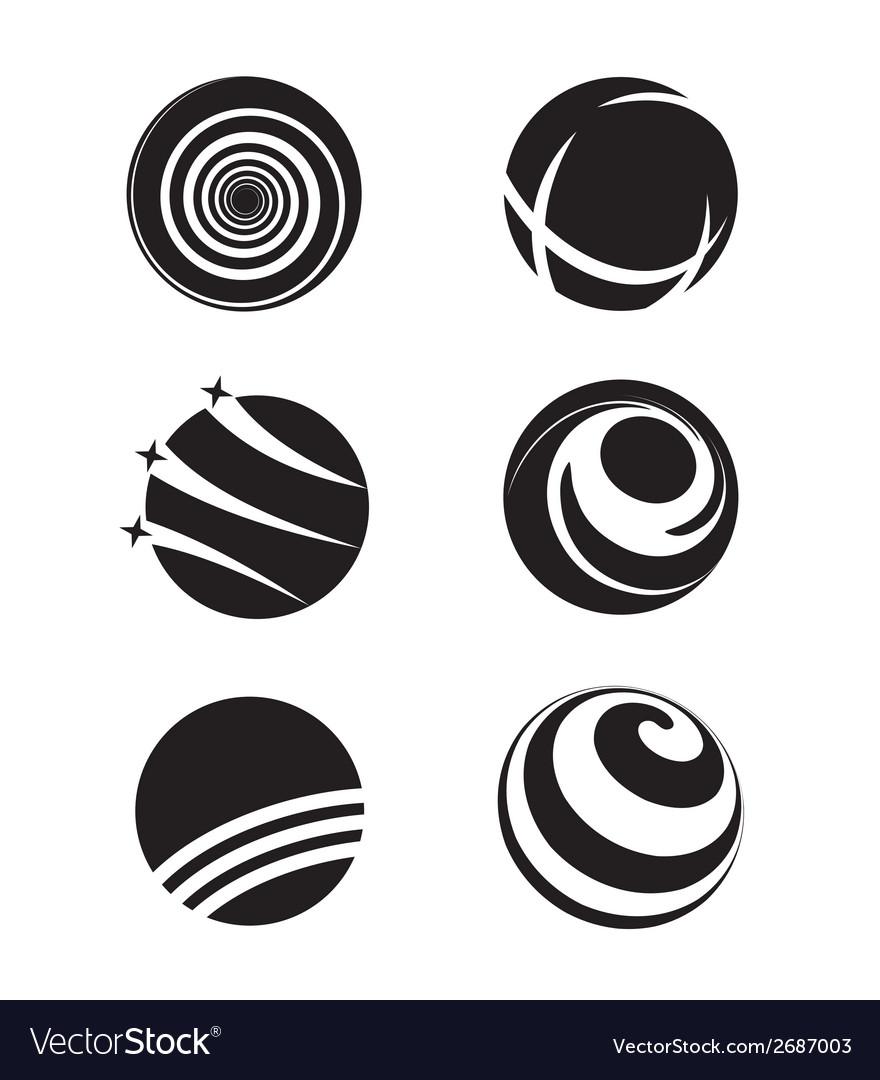 Globe earth silhouette vector