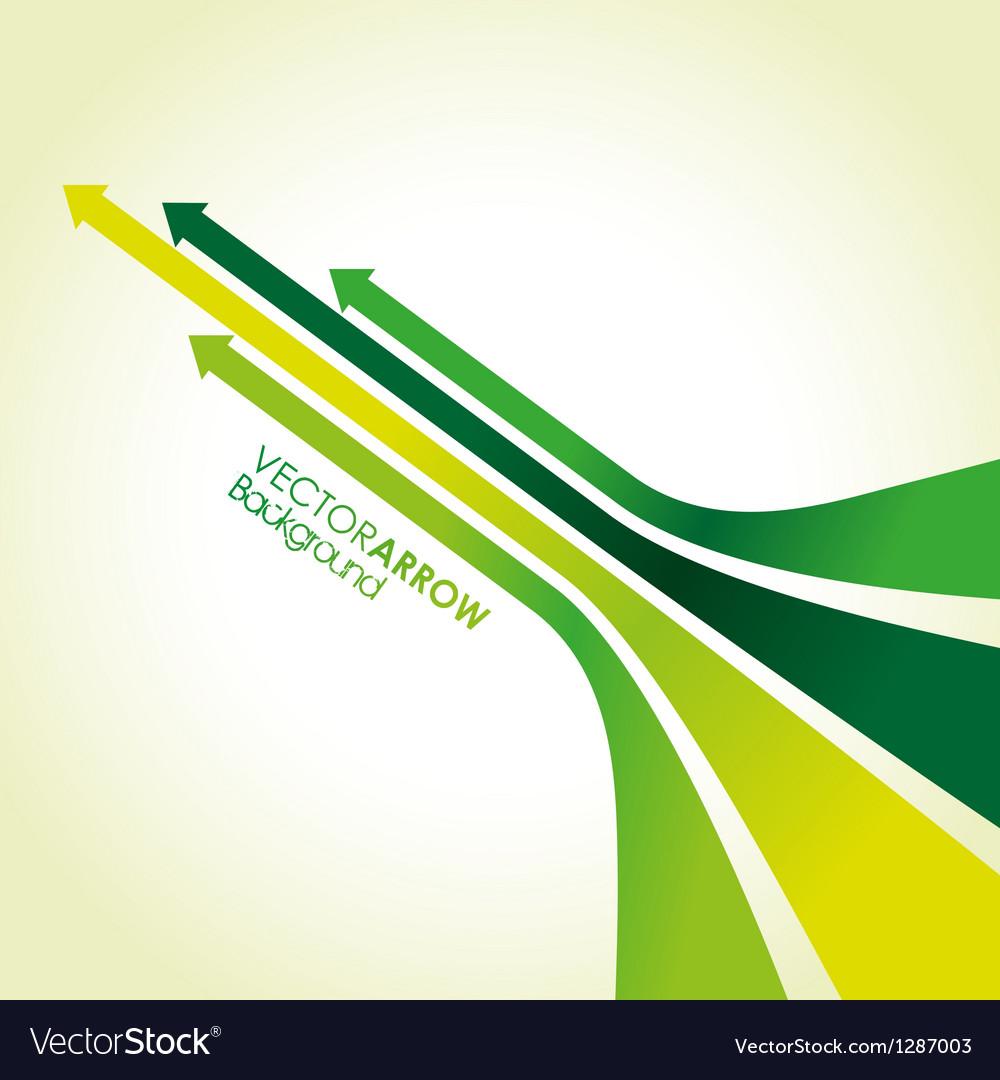 Green arrow strips vector