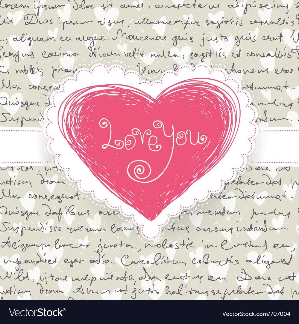 Cute valentine background vector