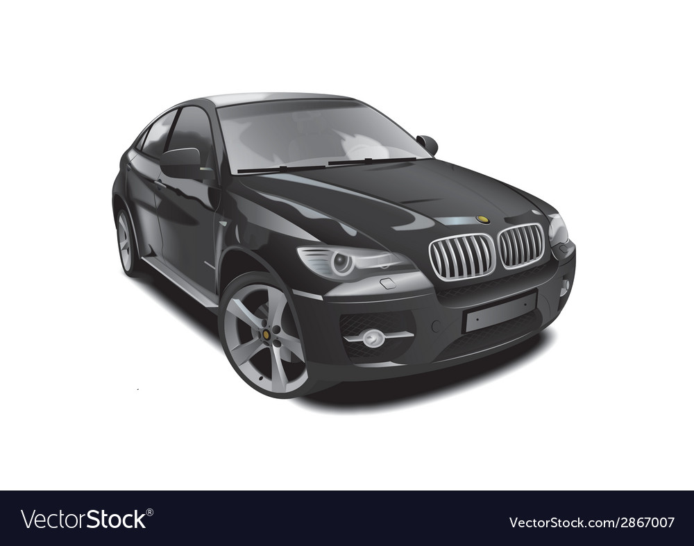 Black sports jeep vector
