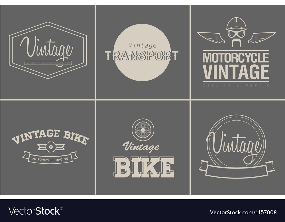Transport emblems vector