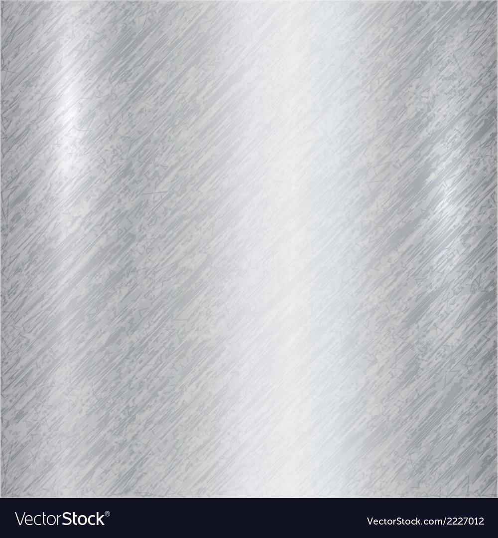Abstract metallic silver background vector