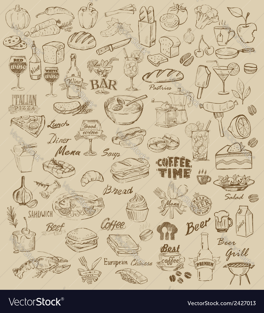 Food and meal vector