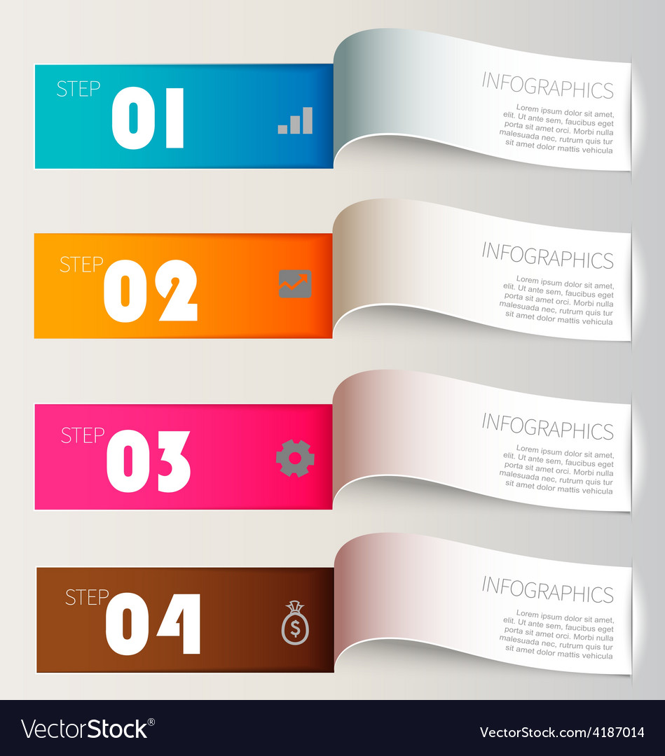 Infographic paper cut vector