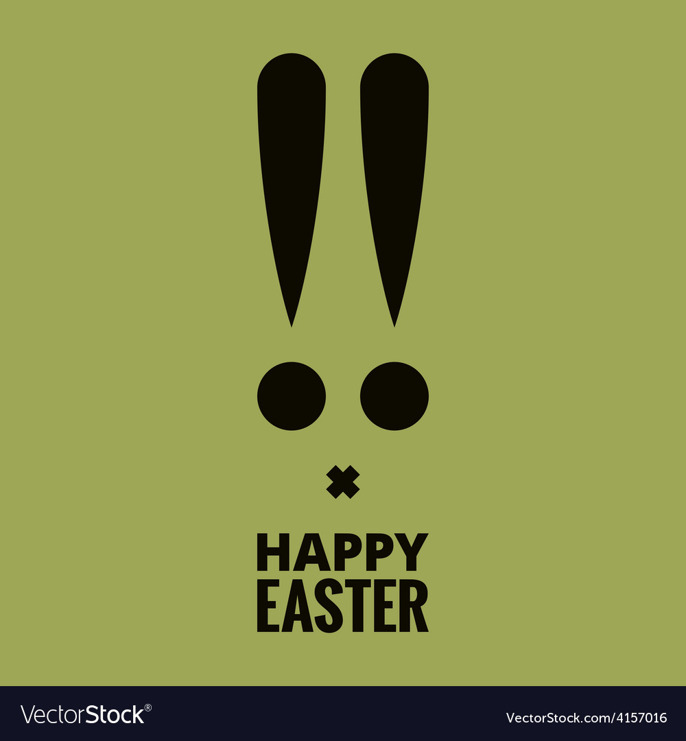 Easter bunny design background vector