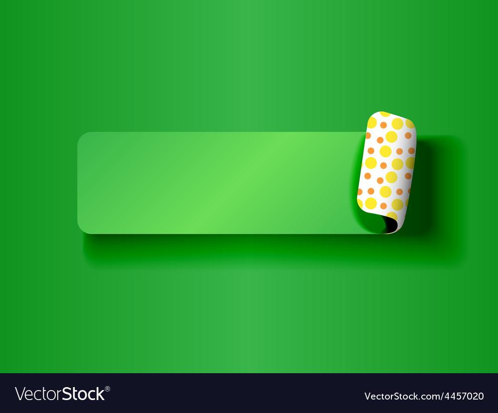 Peeling label green on green vector