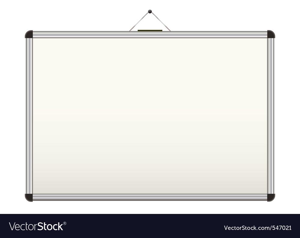 Blank whiteboard vector