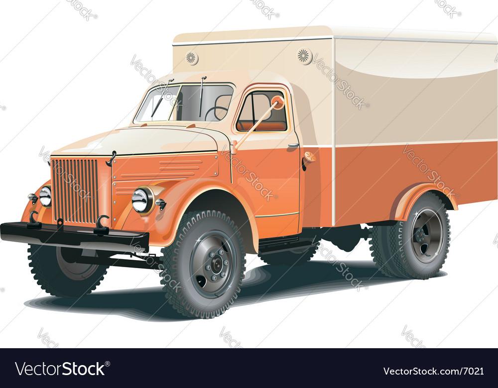 Retro lorry vector