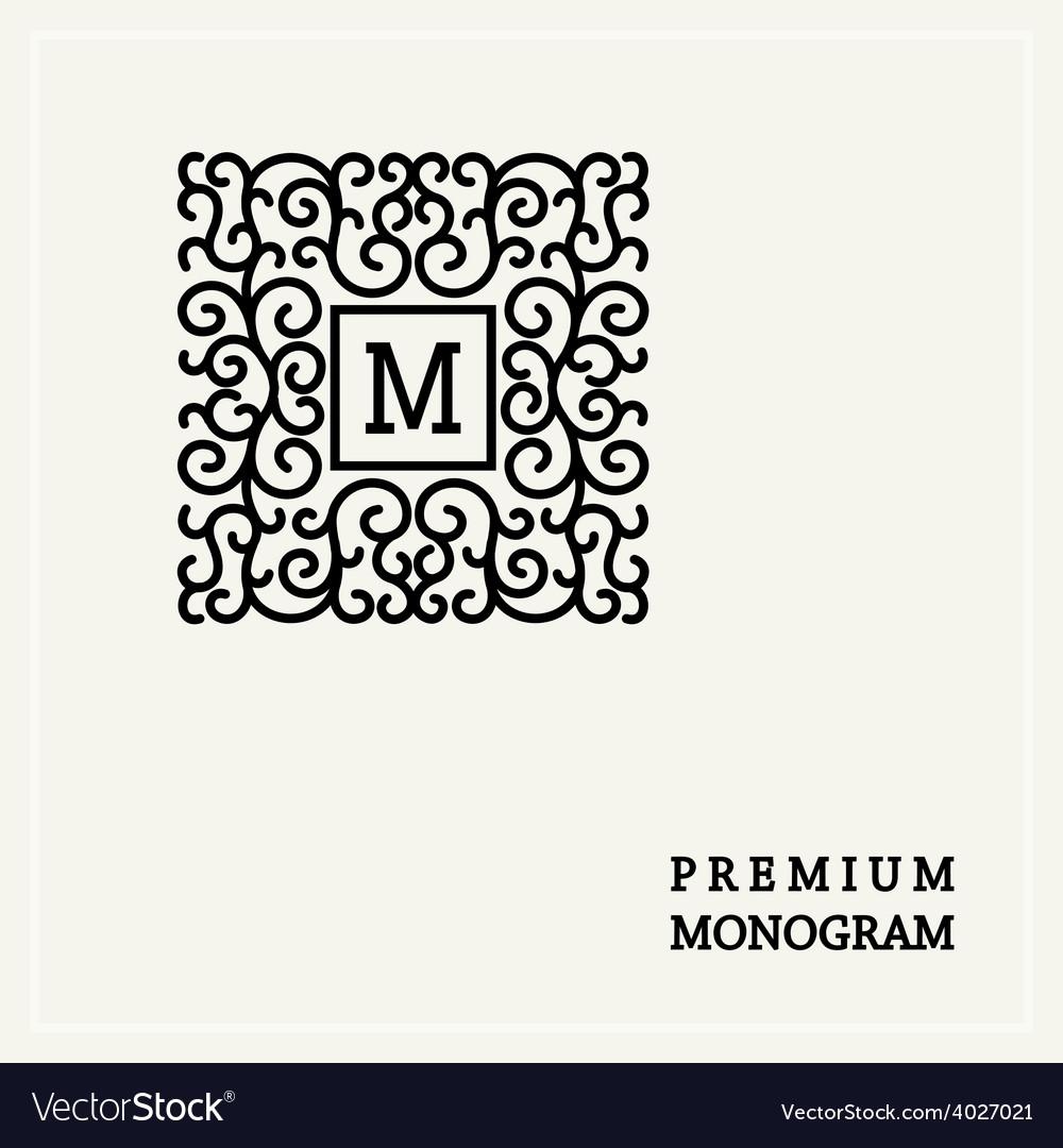 Stylish graceful monogram in victorian style vector
