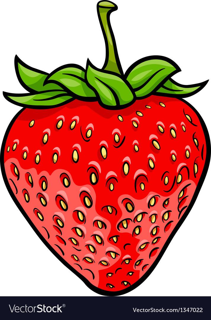 Strawberry fruit cartoon vector