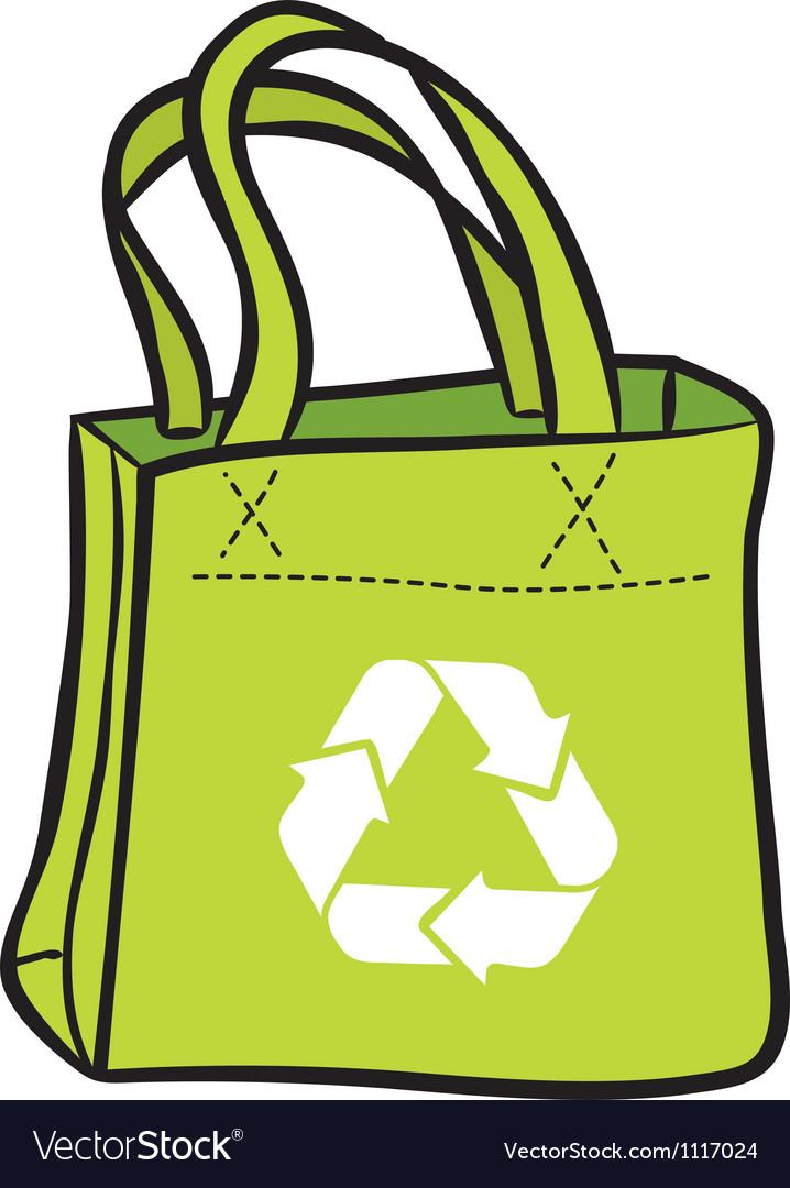Recycle shopping bag vector