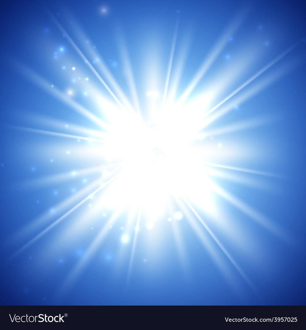 Bright flash explosion or burst vector