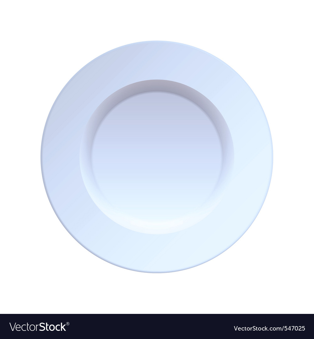 China dinner plate vector