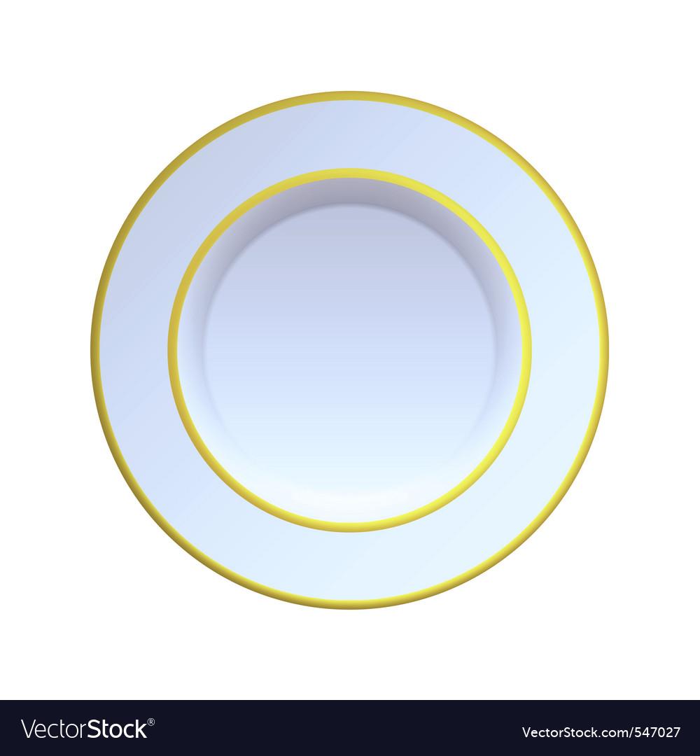 China plate vector
