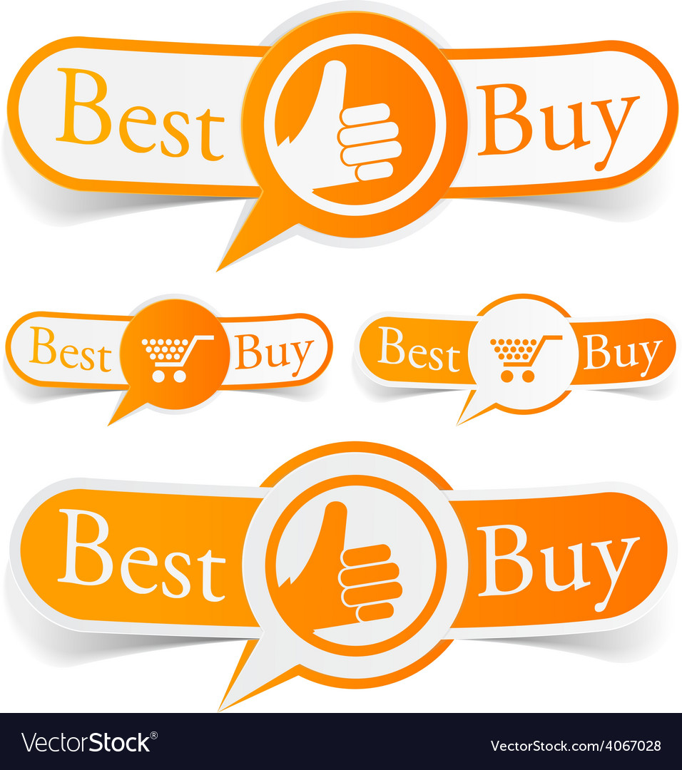 Best buy orange tags vector