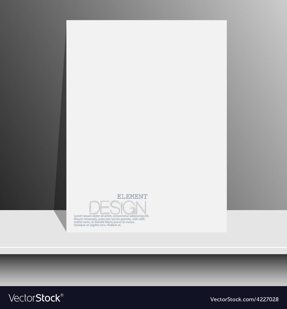 Blank white magazines on white shelf with soft vector