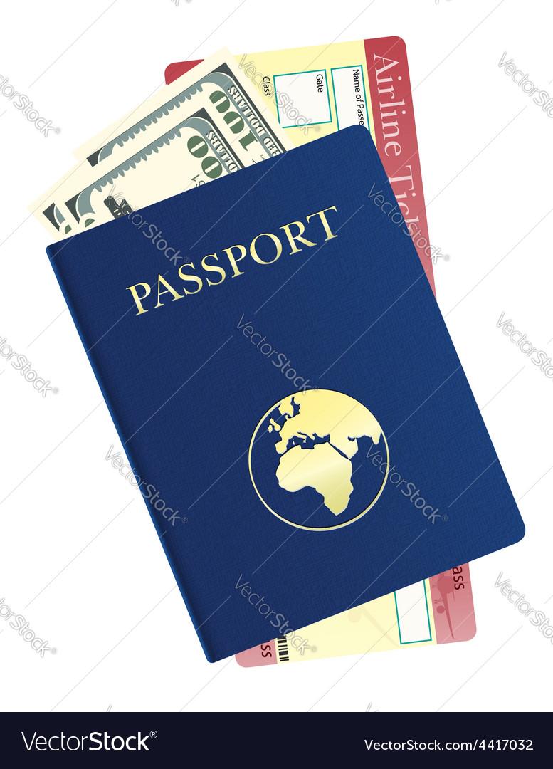 Passport 07 vector