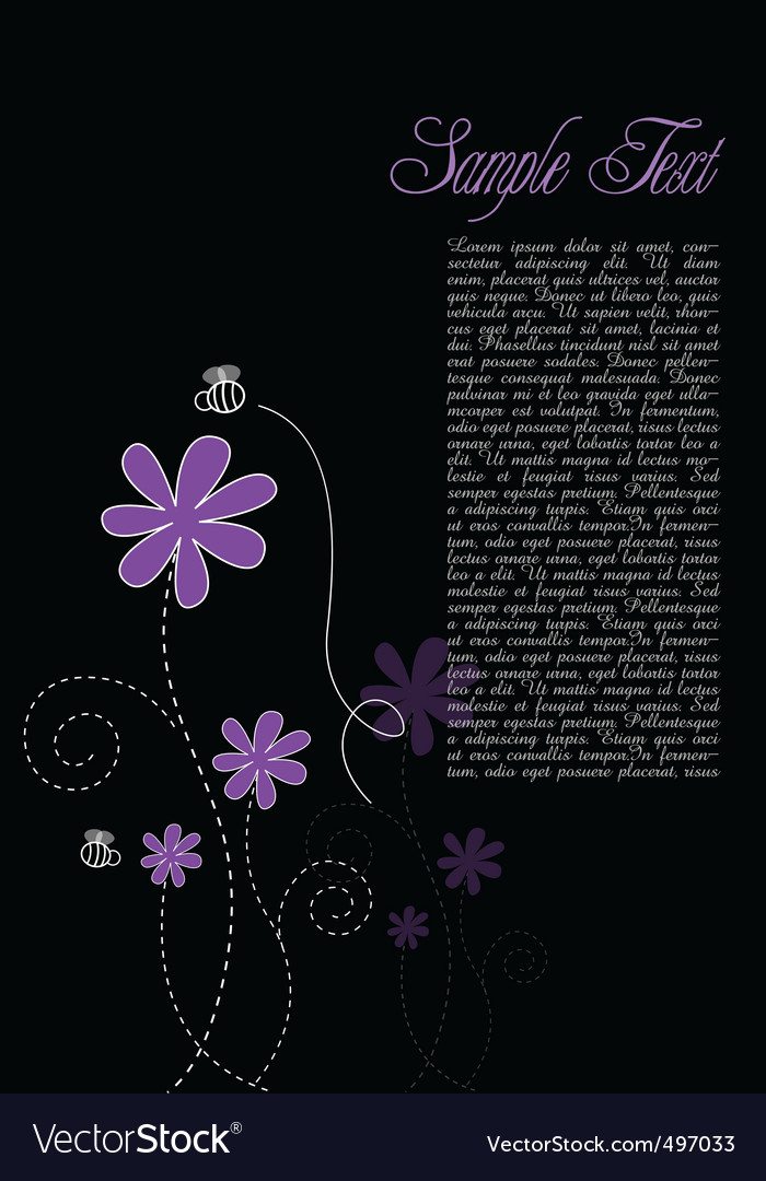 Floral text template vector