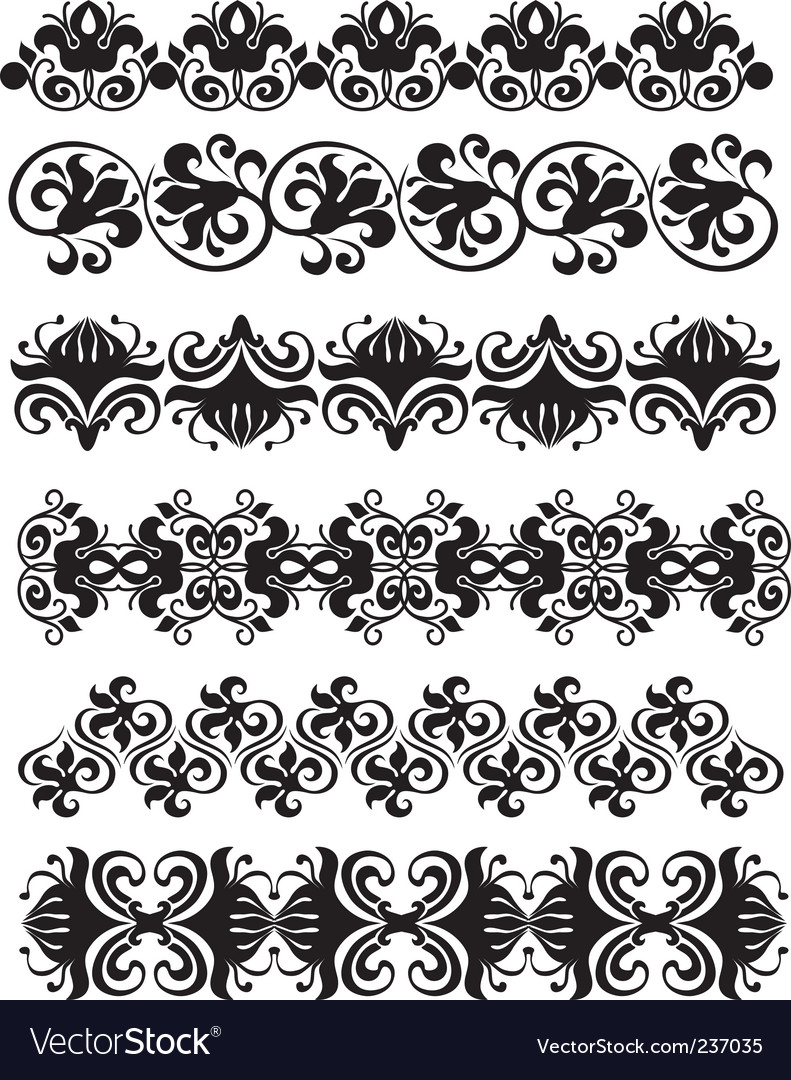 Ornament black vector