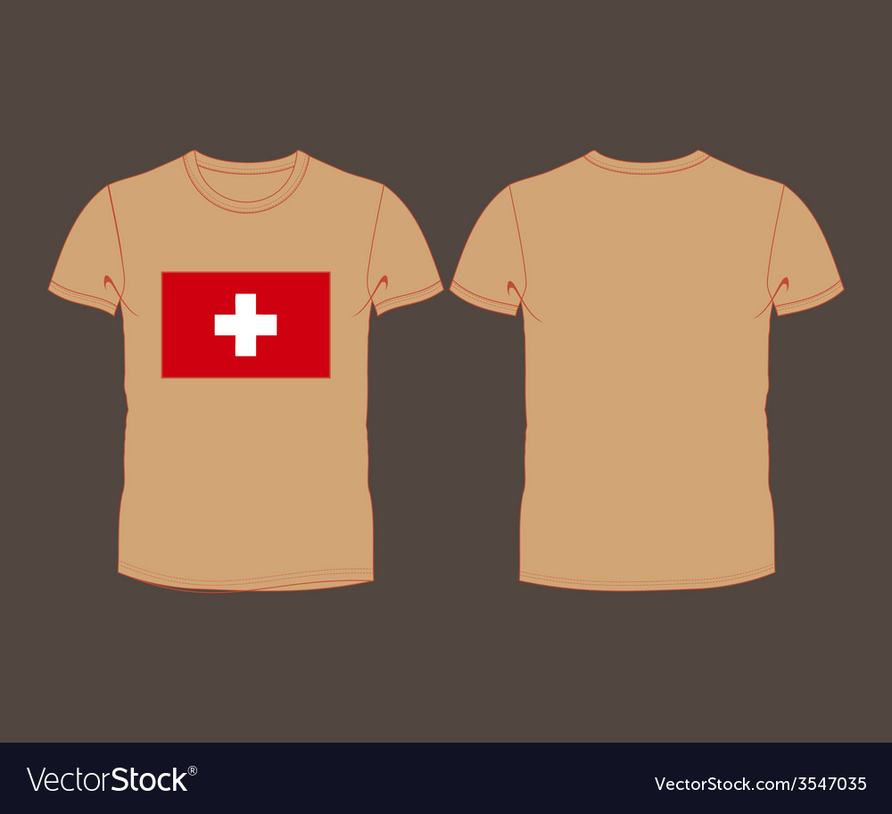 T-shirt with the flag of switzerland vector