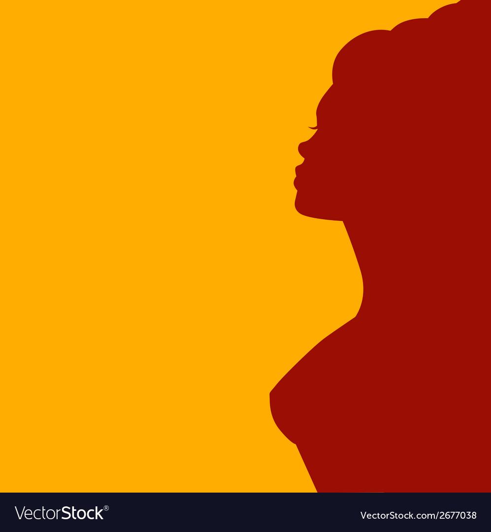 Elegant side silhouette vector