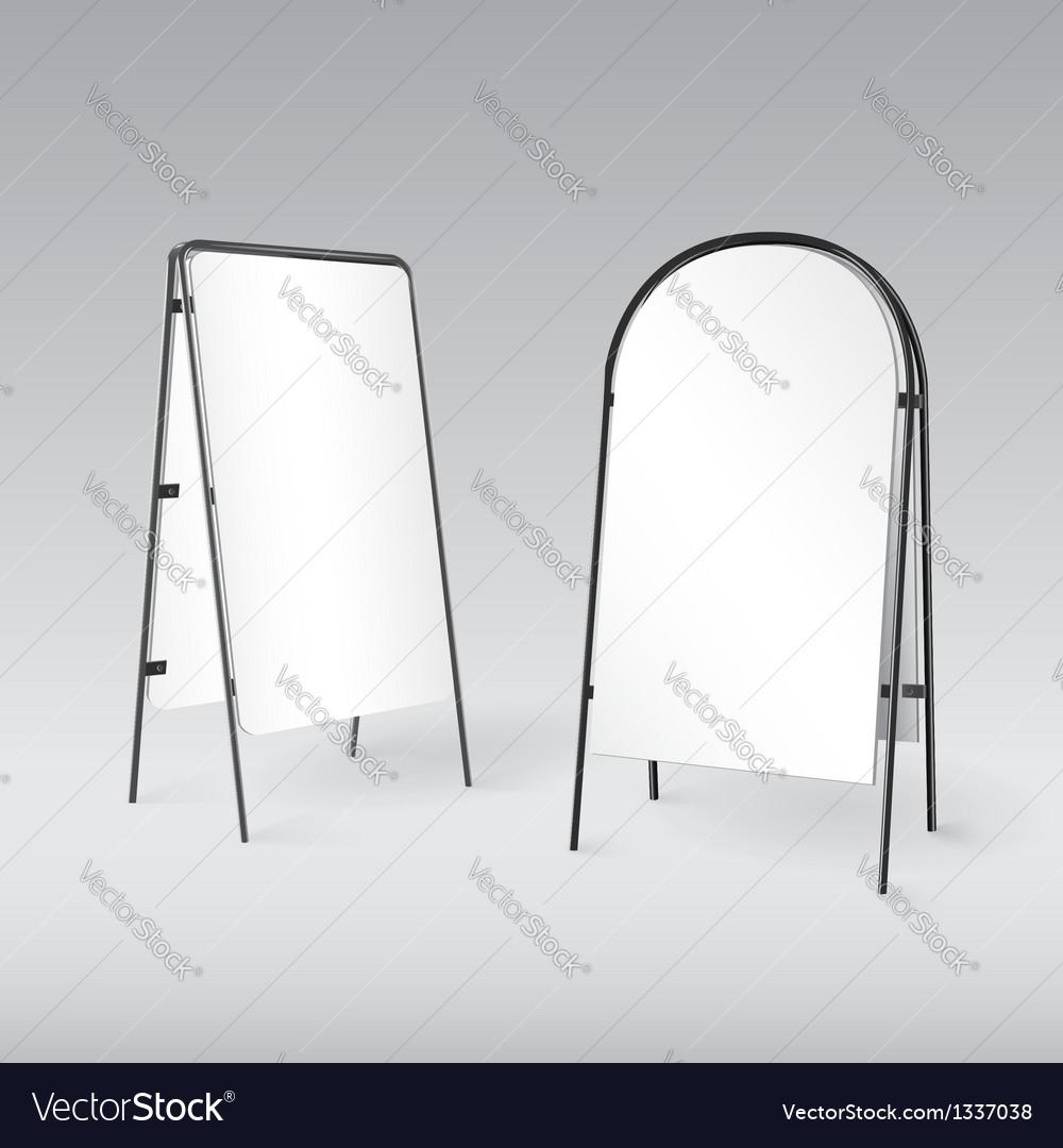 Sandwich board isolated - 3d vector