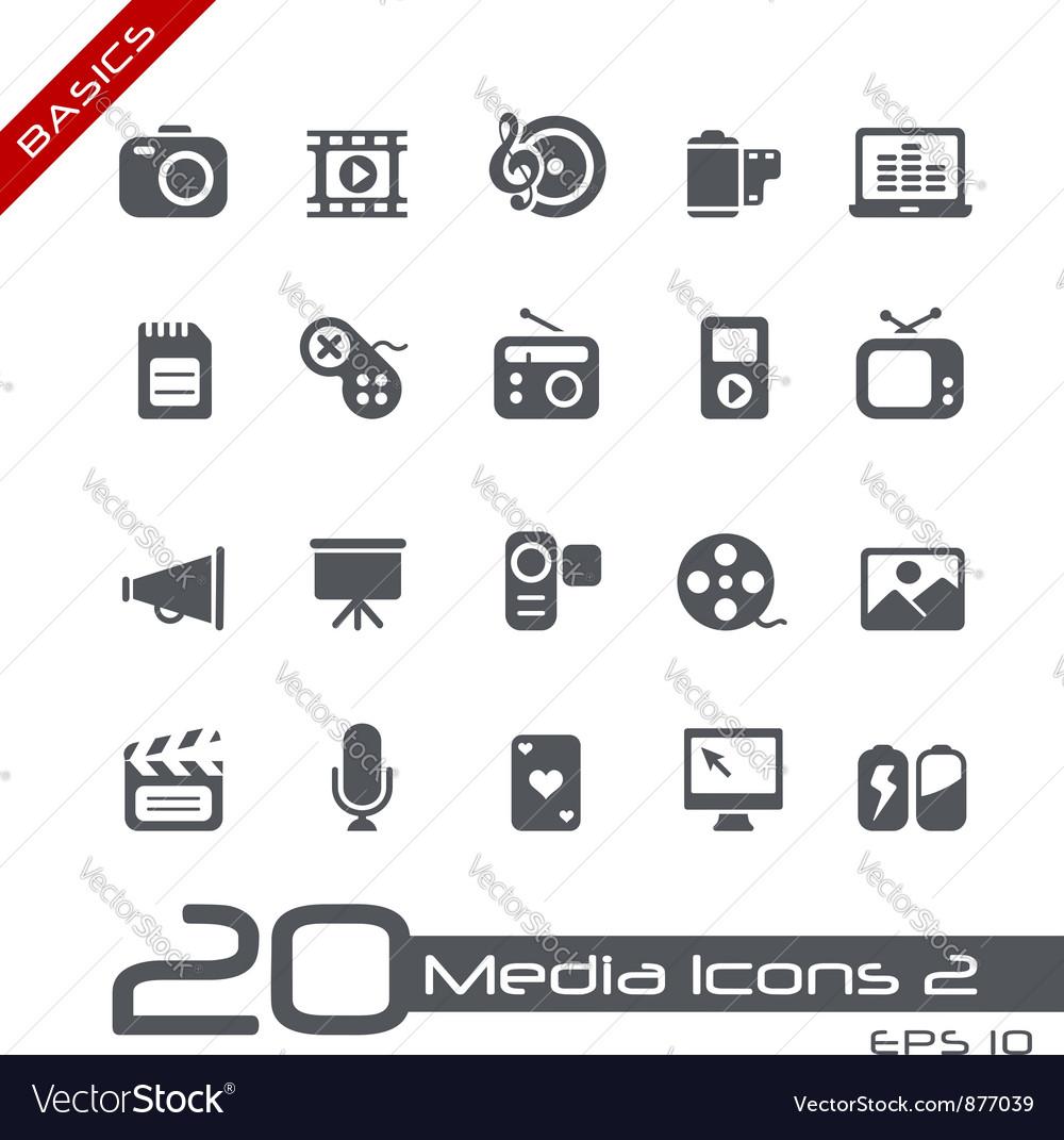 Multimedia basics series vector