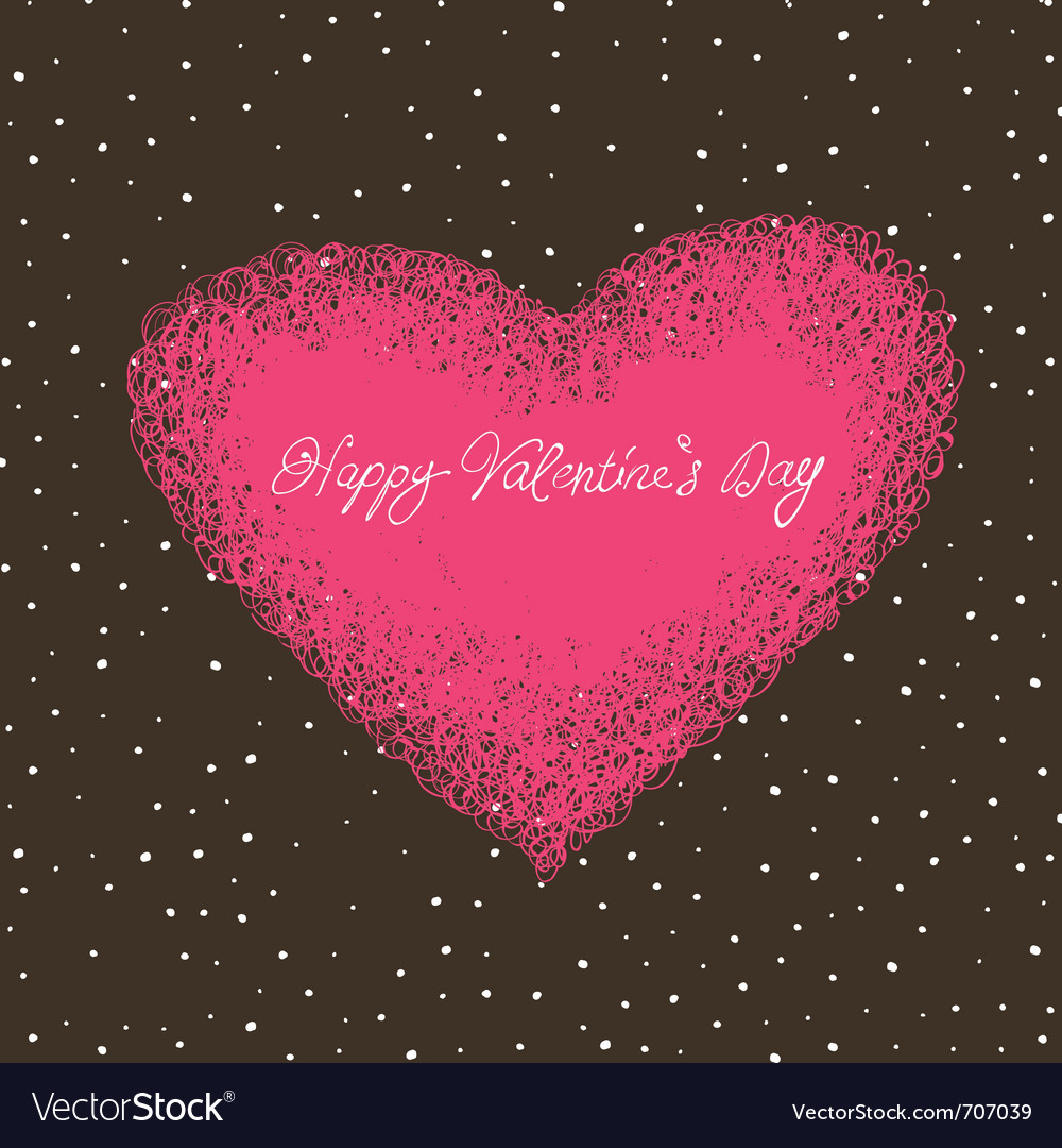 Valentines card with space for text vector