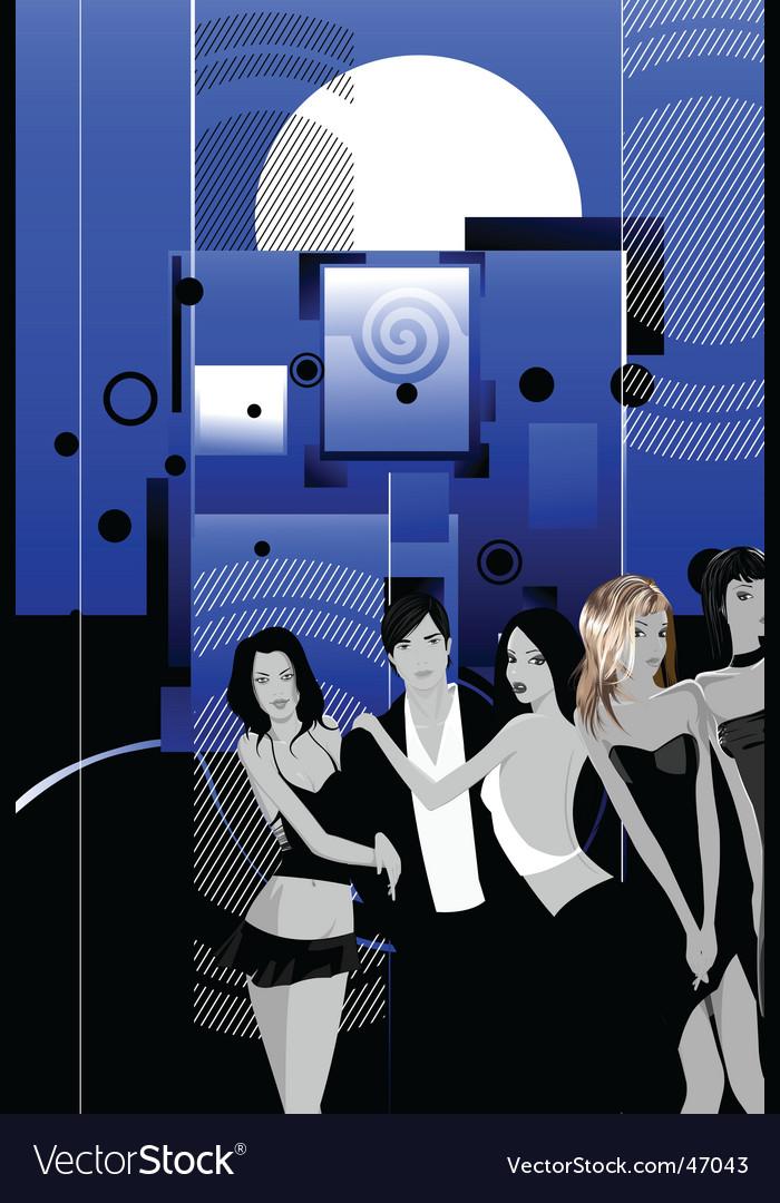Nightclub scene vector