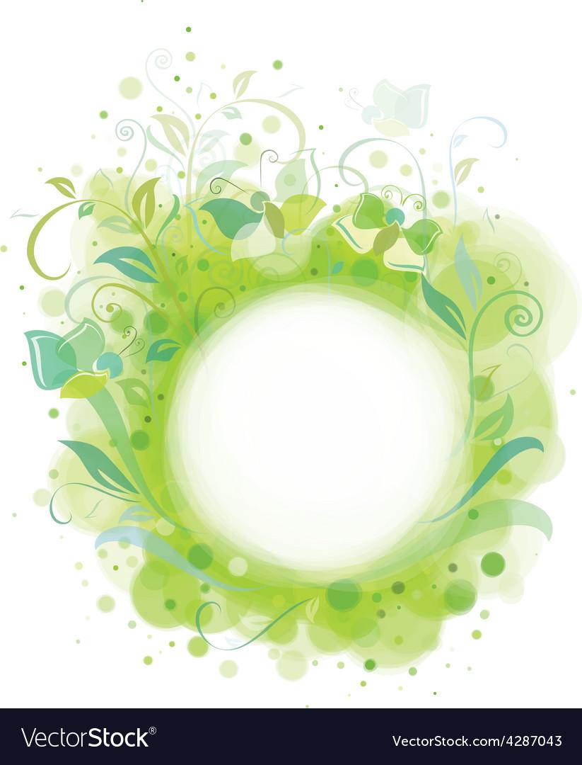 Spring frame floral vector