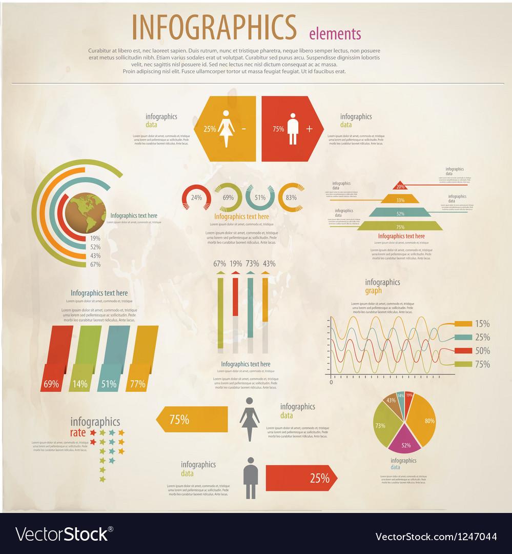 Infographics retro vector