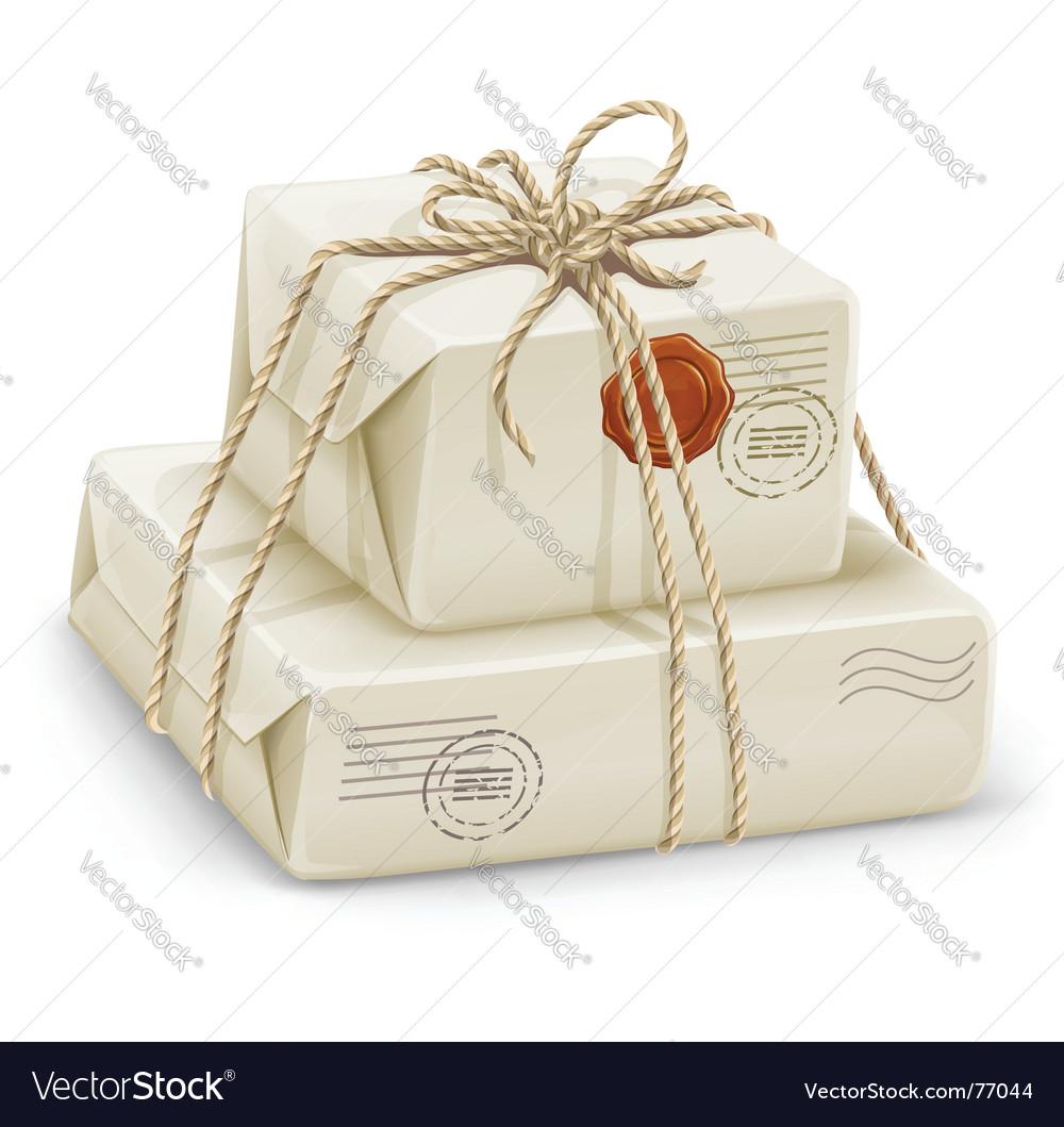 Parcel post boxes vector