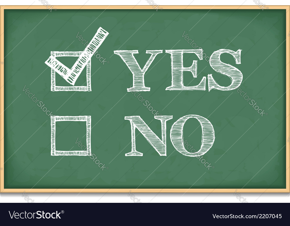 Yes and no vector