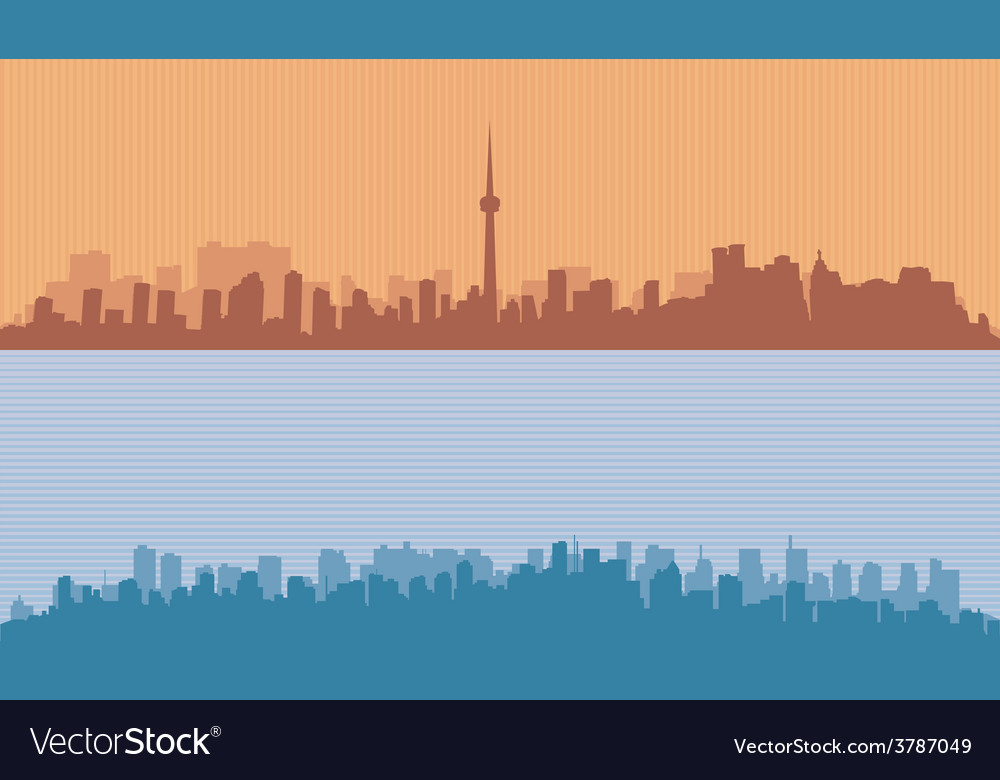 Two original contour of big cities vector